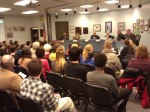 Crowded boardroom