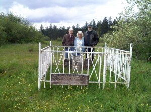 Descendants of Charles Wren - the Dougherty family visit his grave and old homestead on Fort Lewis Area 13.