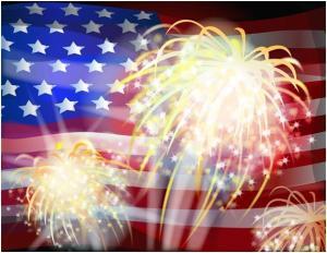 Firework flag