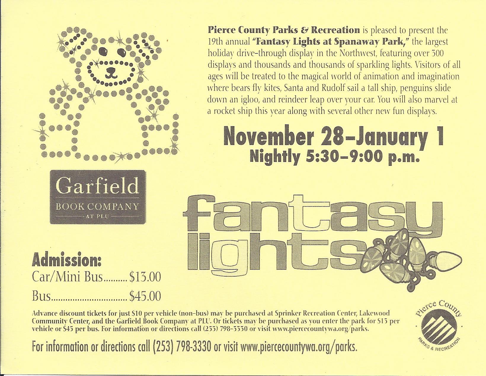 Walk Fantasy Lights on Sunday, Nov. 24 – Pierce Prairie Post