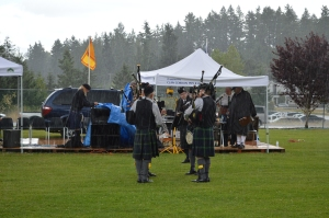 This Clan GOrdon Quartet got a downpouring of support