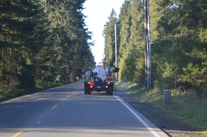 County roadside herbicide spraying contractor just above Pioneer Valley, 4-16-15