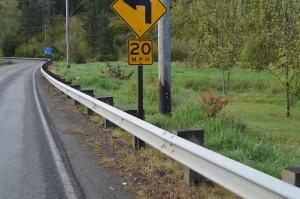 Dry railing on 4-29-15, with deadened vegetation