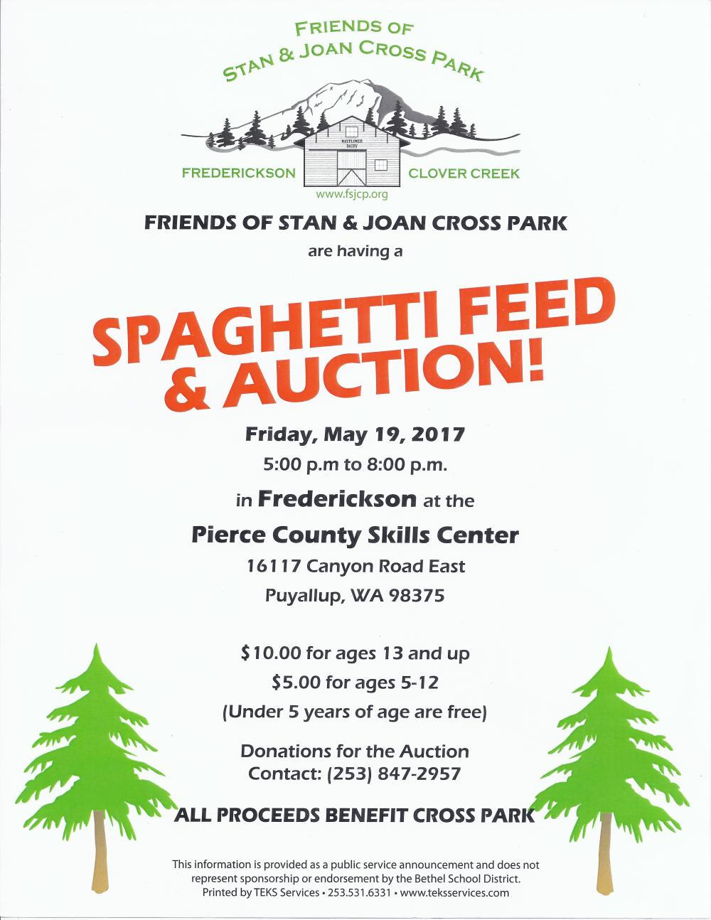 Spaghetti Feed 5 19 2017