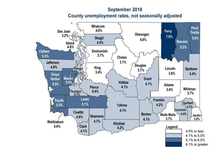 September 2018 unemployment
