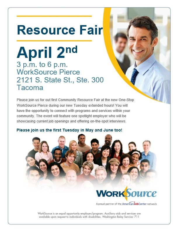 Resource Fair April 2