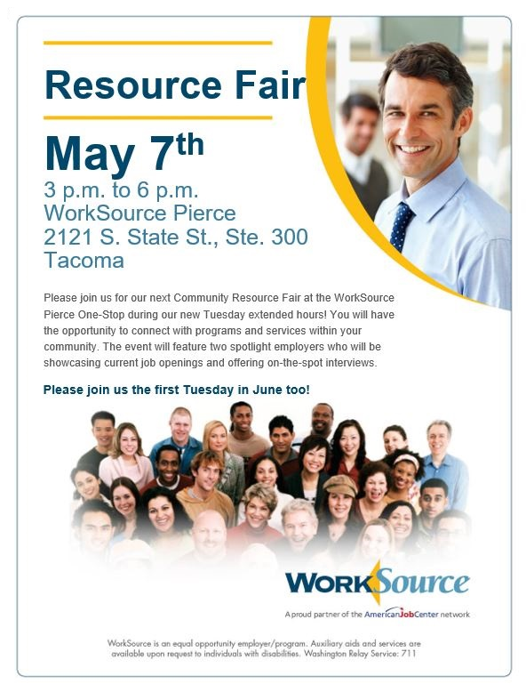 WorkSource Resource Fair May 7 2019