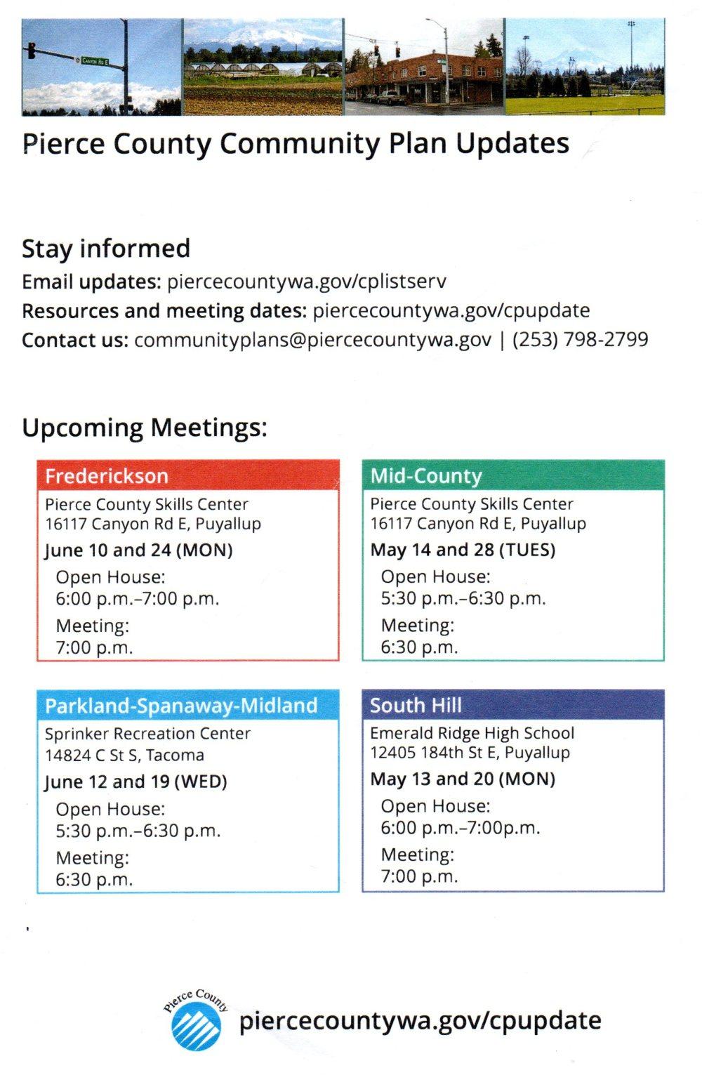 CommunityPlan Update Meetings