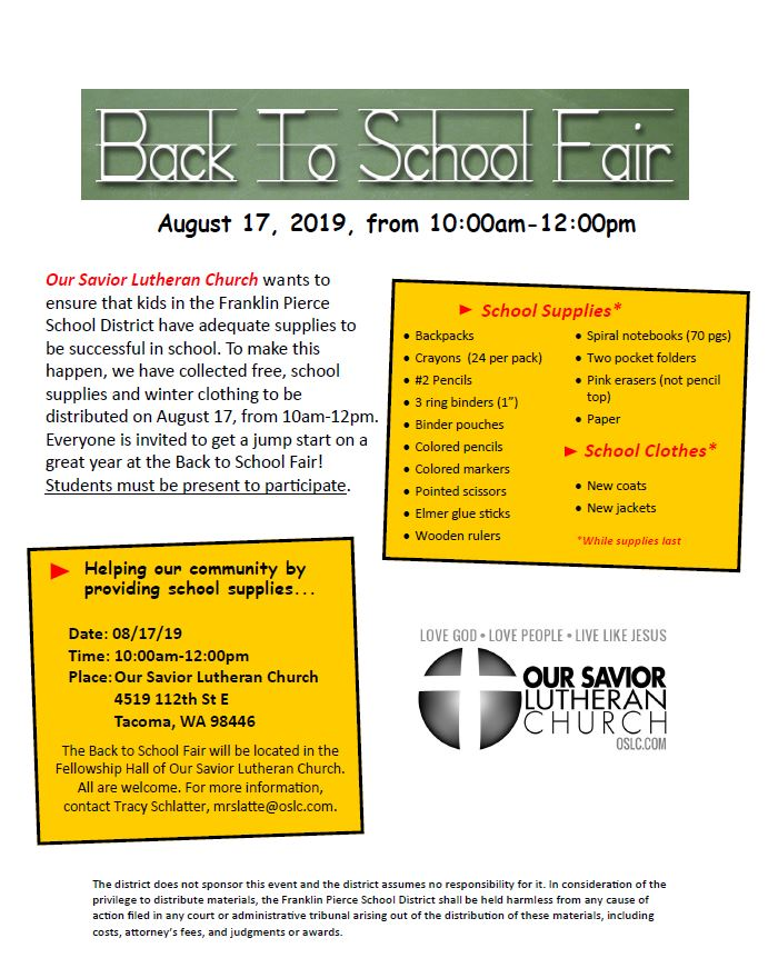 Capture OSLC Back to School Fair