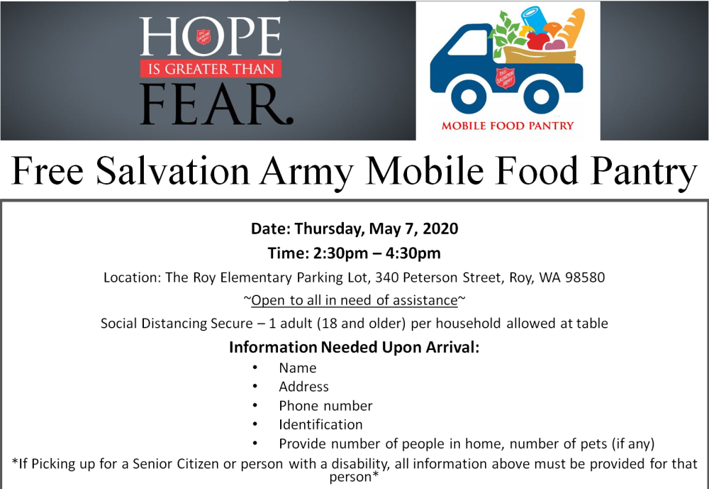 Salvation Army Mobile Food Pantry image